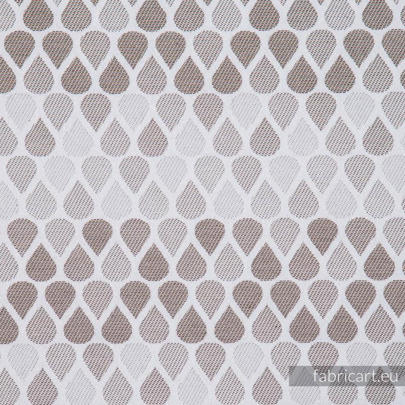 KROPLE CAFFE LATTE, ćwiartka tkaniny, splot żakardowy, rozmiar 50cm x 70cm - OUTLET #babywearing