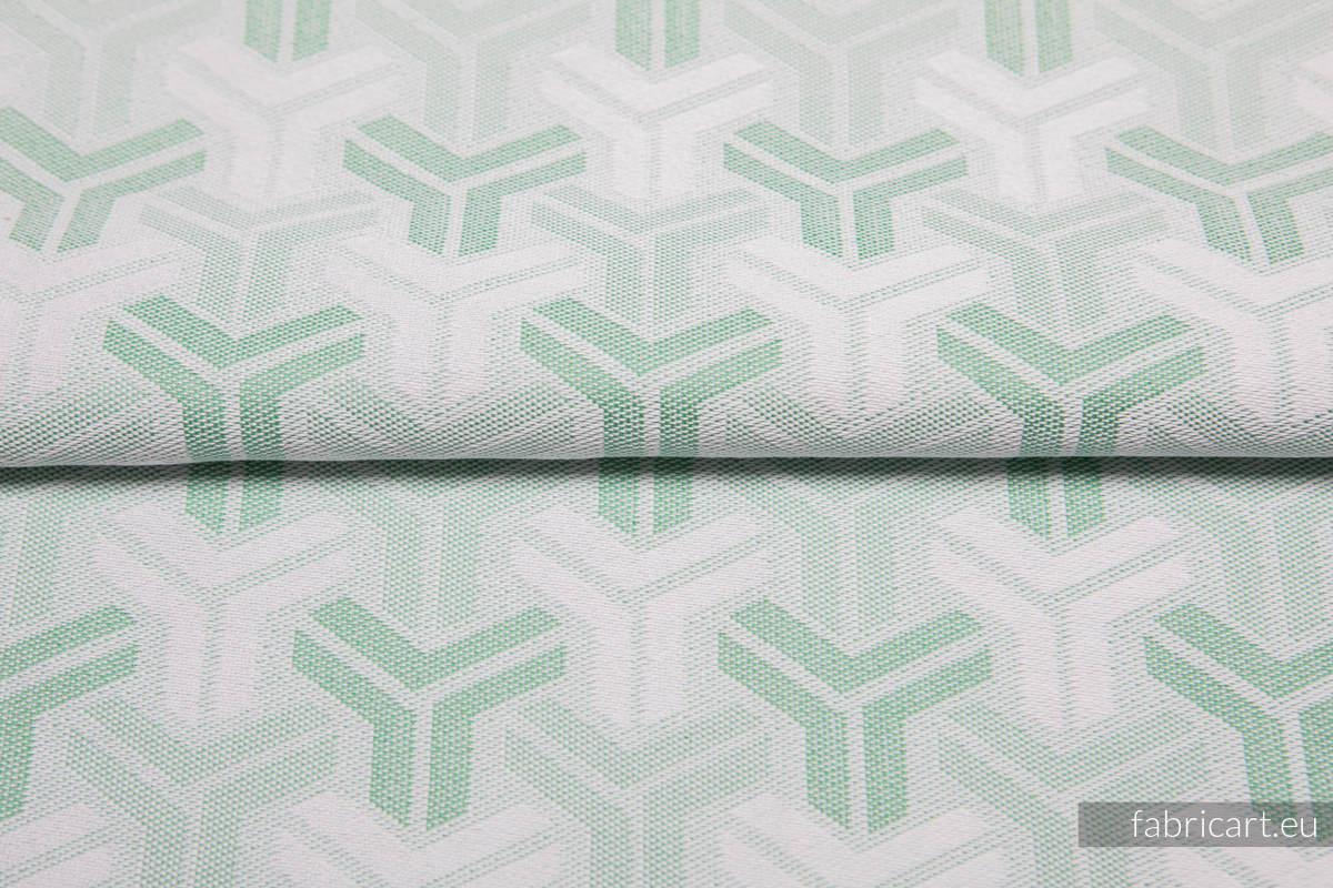 TRINITY MIĘTA, ćwiartka tkaniny, splot żakardowy, rozmiar 50cm x 70cm #babywearing