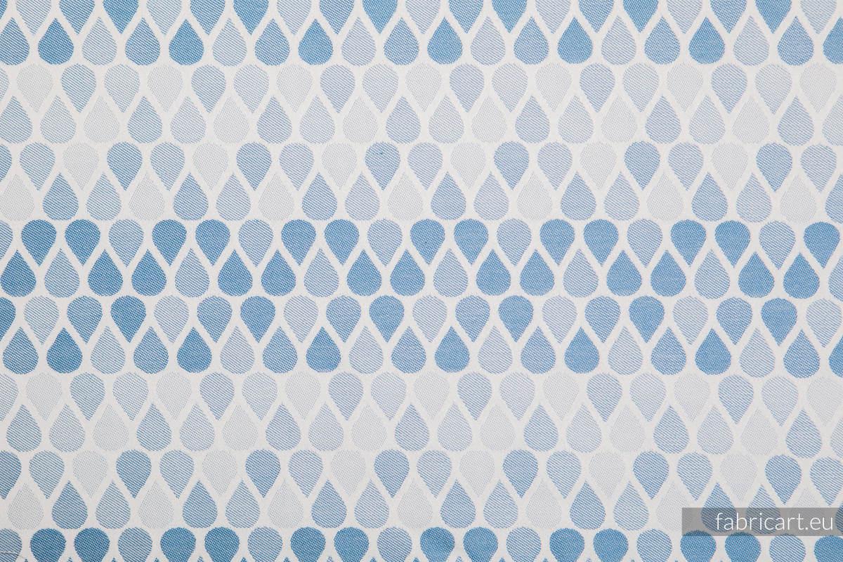 KROPLE NIEBIESKI, ćwiartka tkaniny, splot żakardowy, rozmiar 50cm x 70cm #babywearing