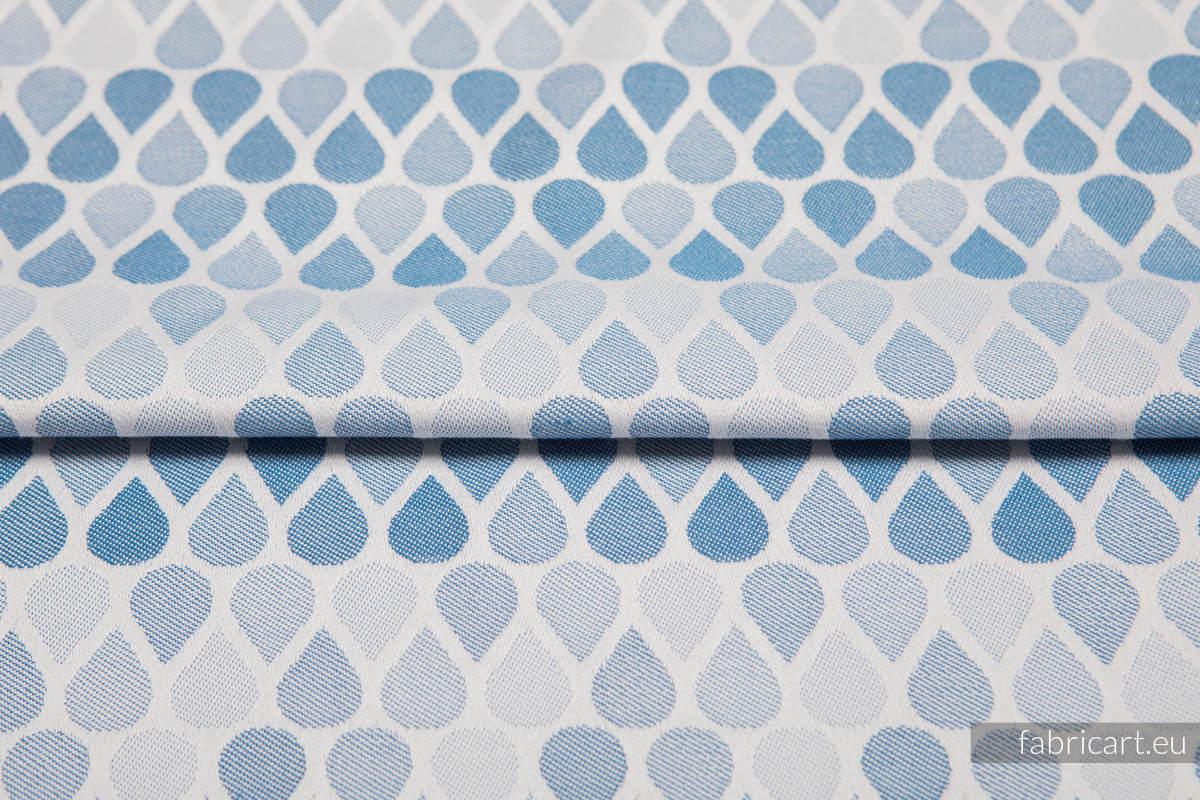 RAINDROPS BABY BLUE, fabric quarters, jacquard, size 50cm x 70cm #babywearing