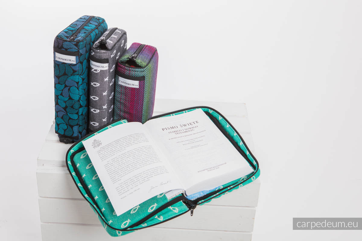 Etui na Pismo Święte ICHTYS - RÓŻOWY - wymiar 16.5x11x6.5 #babywearing