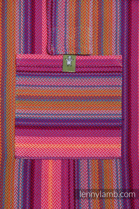 Torba na ramię z materiału chustowego, (100% bawełna) - MAŁA JODEŁKA MALINOWY OGRÓD - uniwersalny rozmiar 37cmx37cm #babywearing