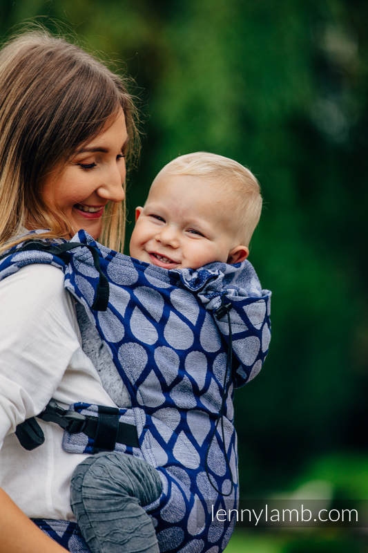 Nosidełko Ergonomiczne z tkaniny żakardowej 100% bawełna , Toddler Size, RADOSNY CZAS RAZEM - Druga Generacja #babywearing