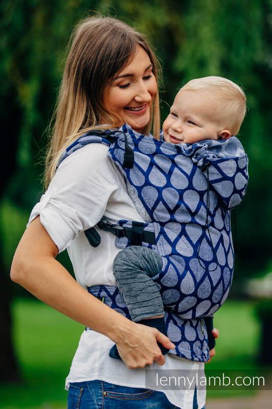 Nosidełko Ergonomiczne z tkaniny żakardowej 100% bawełna , Baby Size, RADOSNY CZAS RAZEM - Druga Generacja #babywearing