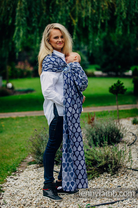 Ringsling, Jacquard Weave (100% cotton) - with gathered shoulder - JOYFUL TIME TOGETHER - long 2.1m #babywearing