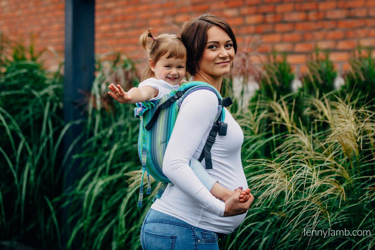 Nosidło Klamrowe ONBUHIMO splot jodełkowy (100% bawełna), rozmiar Standard - MAŁA JODEŁKA AMAZONIA  #babywearing