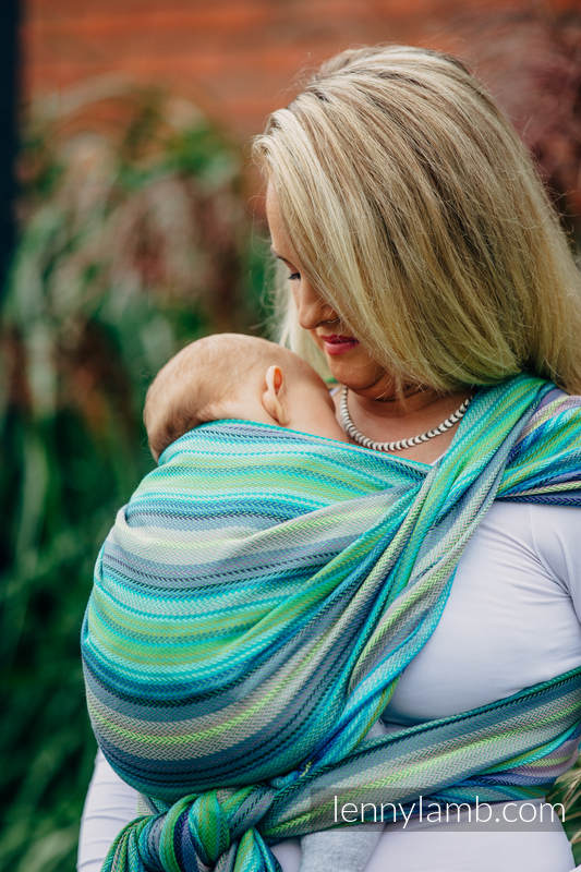 Baby Wrap, Herringbone Weave (100% cotton) - LITTLE HERRINGBONE AMAZONIA - size L #babywearing