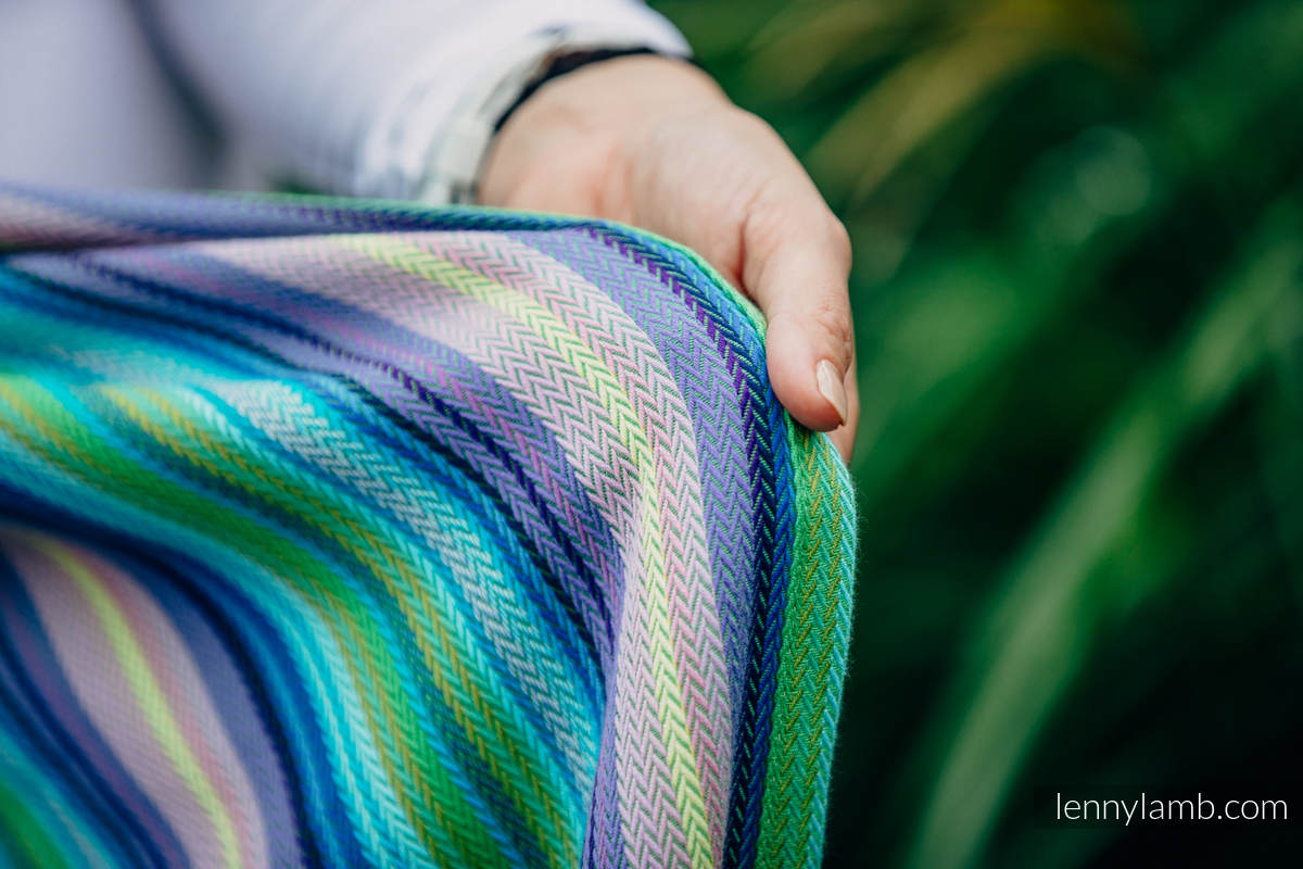 Baby Wrap, Herringbone Weave (100% cotton) - LITTLE HERRINGBONE AMAZONIA - size XL #babywearing