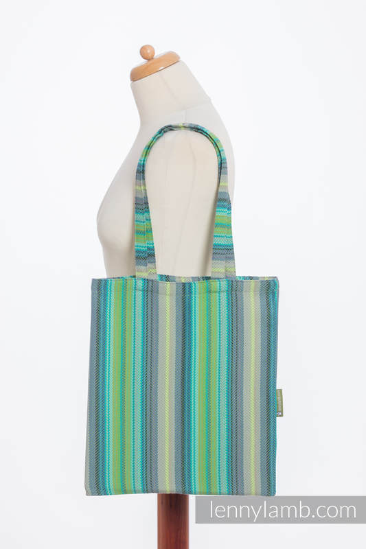 Shopping bag made of wrap fabric (100% cotton) - LITTLE HERRINGBONE AMAZONIA #babywearing