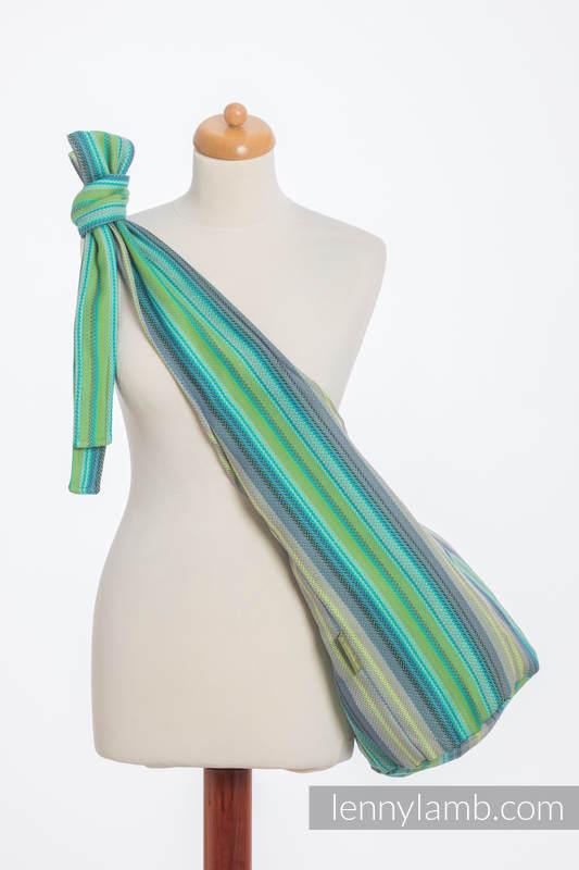 Hobo Bag made of woven fabric (100% cotton) - LITTLE HERRINGBONE AMAZONIA #babywearing
