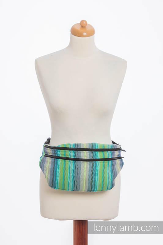 Waist Bag made of woven fabric, size large (100% cotton) - LITTLE HERRINGBONE AMAZONIA #babywearing