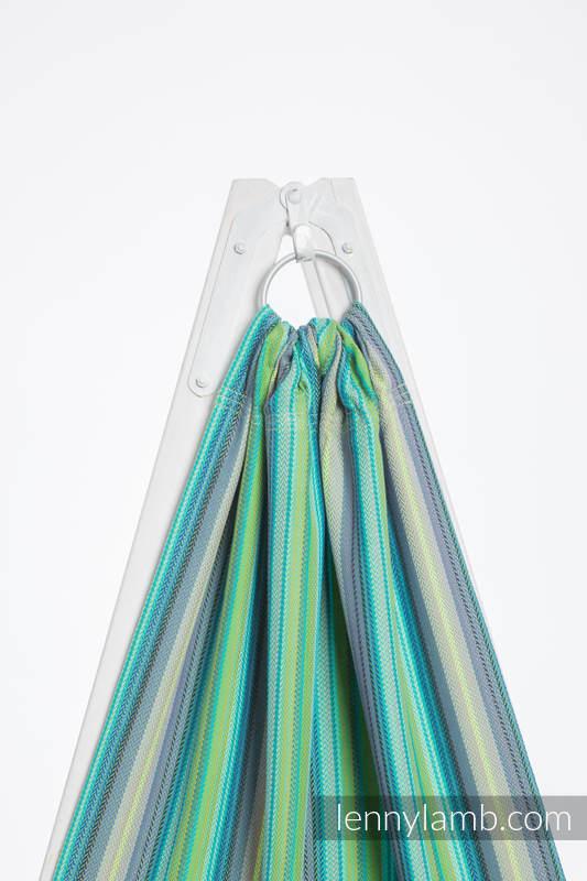 Ringsling, Herringbone Weave (100% cotton) - with gathered shoulder - LITTLE HERRINGBONE AMAZONIA #babywearing