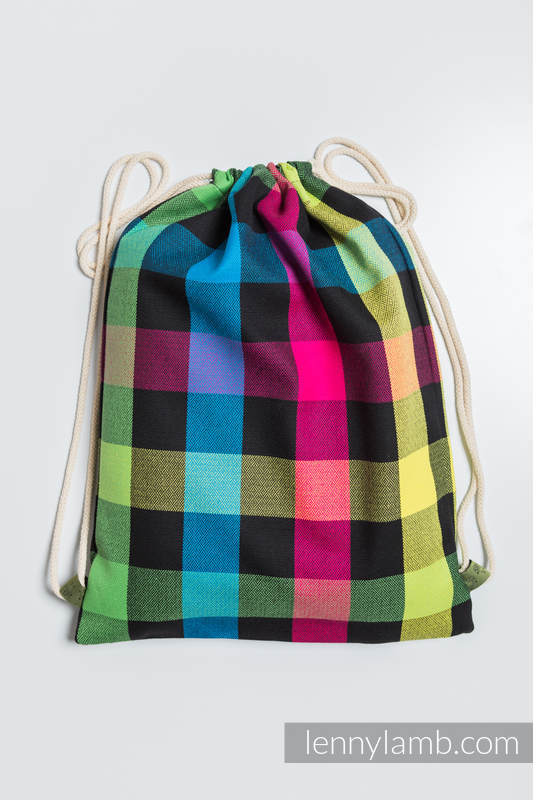 Sackpack made of wrap fabric (100% cotton) - DIAMOND PLAID- standard size 32cmx43cm #babywearing
