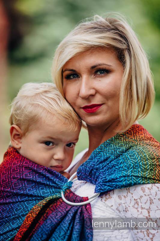 Ringsling, Jacquard Weave (100% cotton) - BIG LOVE RAINBOW DARK #babywearing