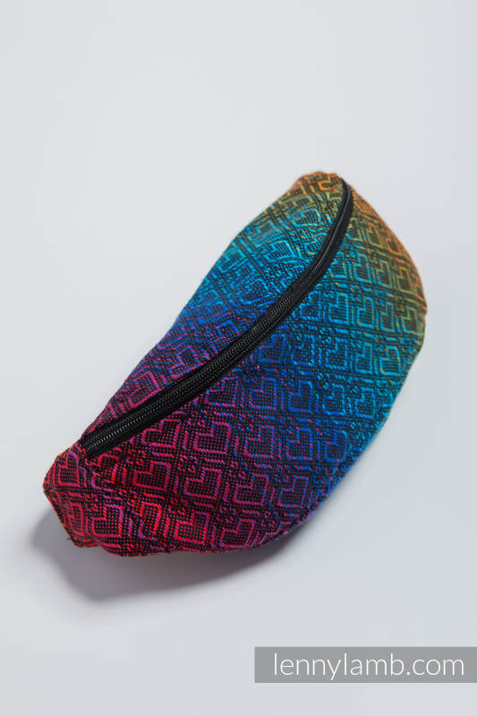 Waist Bag made of woven fabric, (100% cotton) - BIG LOVE RAINBOW DARK #babywearing
