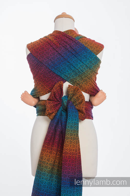 WRAP-TAI carrier Mini with hood/ jacquard twill / 100% cotton / BIG LOVE RAINBOW DARK #babywearing