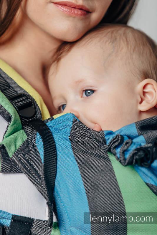 Nosidełko Ergonomiczne z tkaniny skośnokrzyżowej 60% bawełna 40% bambus , Baby Size, ZMIERZCH Druga Generacja (drugi gatunek) #babywearing