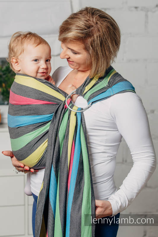 Ring Sling, Broken Twill Weave (40% bamboo + 60% cotton) - Twilight - standard 1.8m #babywearing