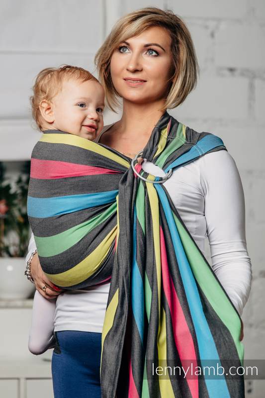 Ring Sling, Broken Twill Weave (40% bamboo + 60% cotton) - Twilight, with gathered shoulder, (grade B) #babywearing