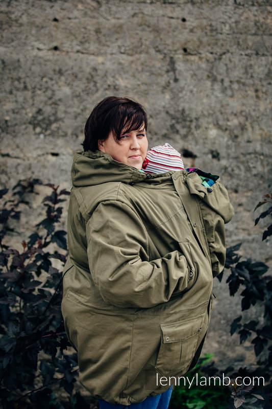 Parka Babywearing Coat - size 5XL -  Khaki & Customized Finishing #babywearing