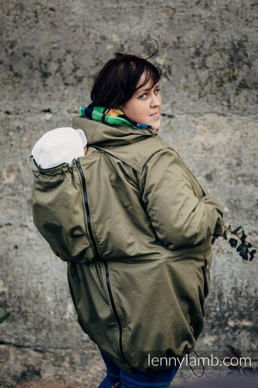 Kurtka do noszenia - Parka - rozmiar 6XL- Khaki z indywidualnym wykończeniem #babywearing