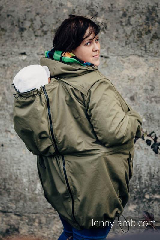 Kurtka do noszenia - Parka - rozmiar 4XL- Khaki z indywidualnym wykończeniem #babywearing