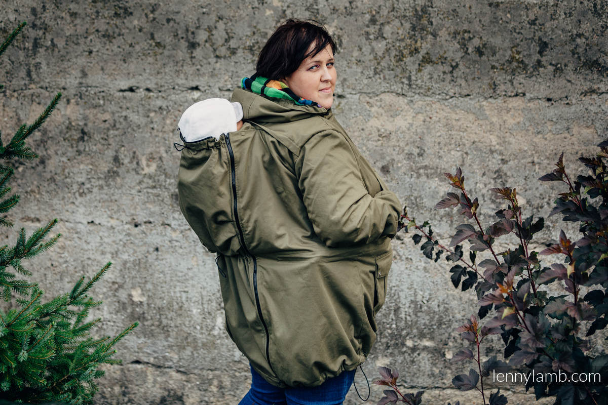 Parka Babywearing Coat - size 3XL -  Khaki & Customized Finishing #babywearing