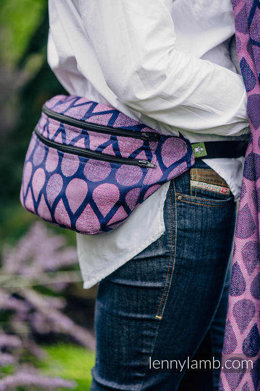 Waist Bag made of woven fabric, size large (100% cotton) - JOYFUL TIME WITH YOU  #babywearing