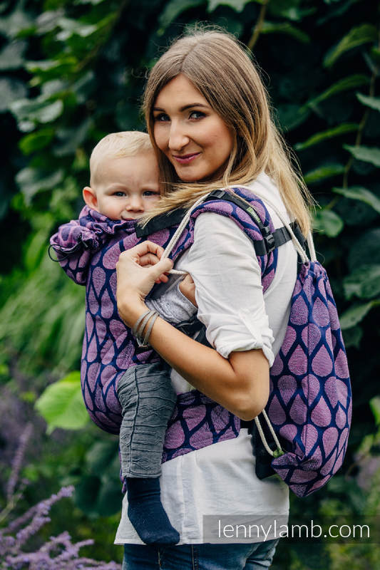 Sackpack made of wrap fabric (100% cotton) - JOYFUL TIME WITH YOU - standard size 32cmx43cm #babywearing