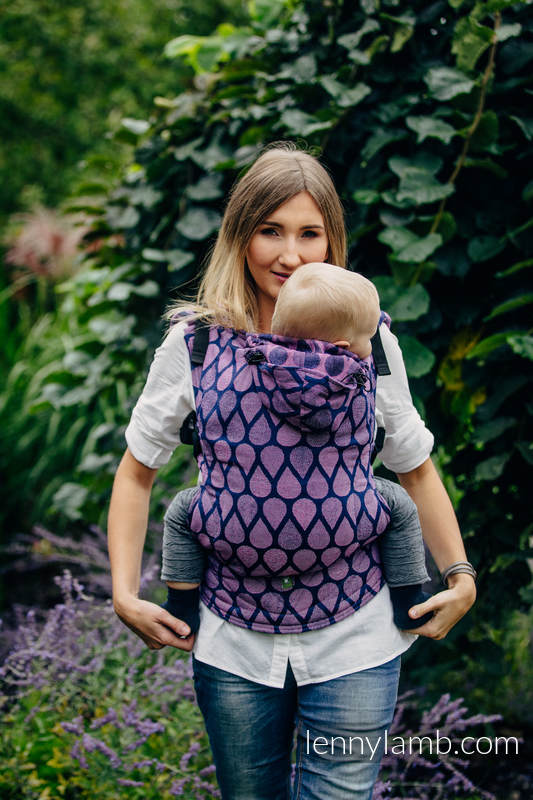 Ergonomic Carrier, Baby Size, jacquard weave 100% cotton - JOYFUL TIME WITH YOU - Second Generation #babywearing