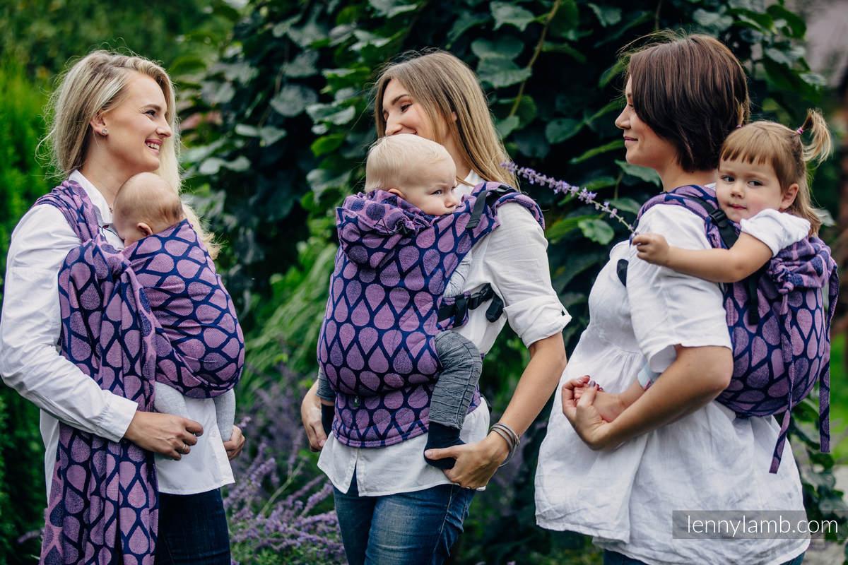 Ergonomic Carrier, Toddler Size, jacquard weave 100% cotton - JOYFUL TIME WITH YOU - Second Generation #babywearing