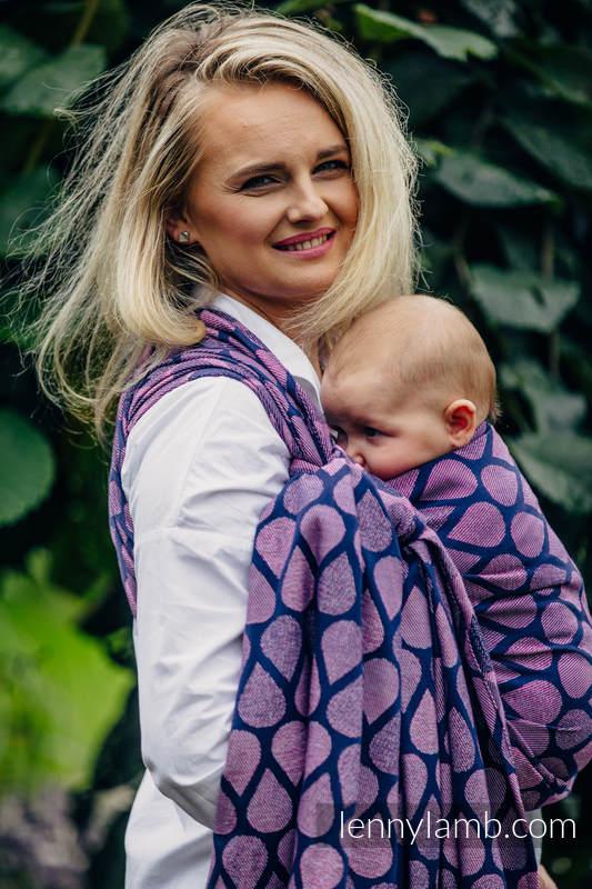 Tragetuch, Jacquardwebung (100% Baumwolle) - JOYFUL TIME WITH YOU - Größe XS #babywearing