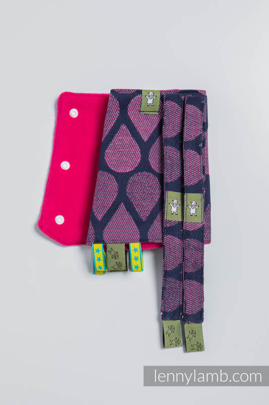 Drool Pads & Reach Straps Set, (60% cotton, 40% polyester) - JOYFUL TIME WITH YOU #babywearing