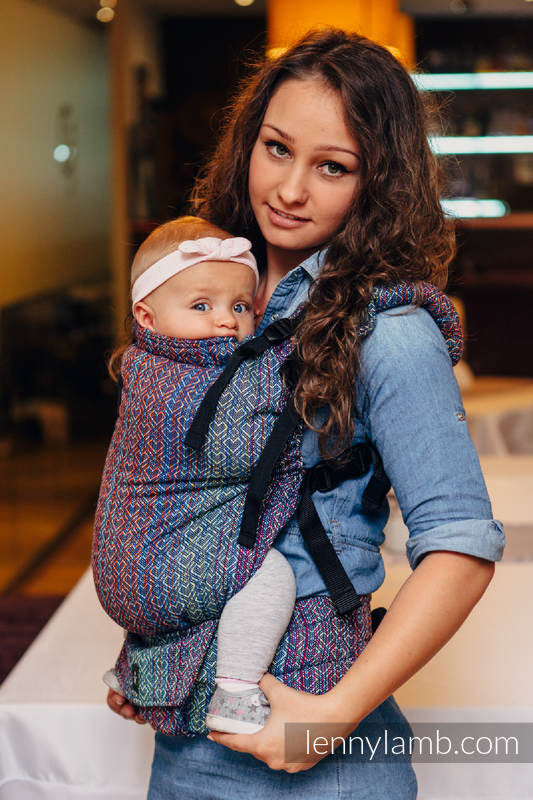 LennyUp Carrier, Standard Size, jacquard weave 100% cotton - wrap conversion from BIG LOVE SAPPHIRE #babywearing