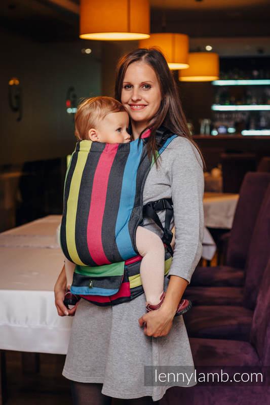Mochila LennyUp, talla estándar, sarga cruzada 100% algodón - conversión de fular NIGHT (grado B) #babywearing