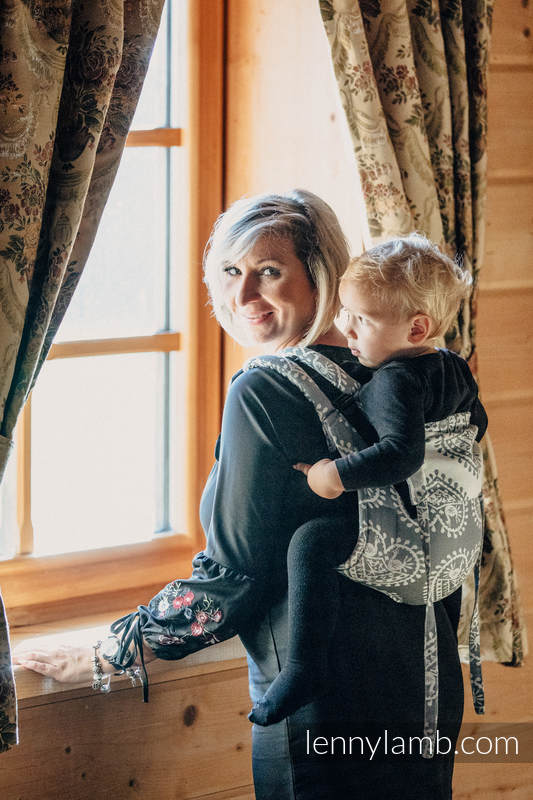 Lenny Buckle Onbuhimo Tragehilfe, Größe Toddler, Jacquardwebung (100% Baumwolle) - FOLK HEARTS #babywearing