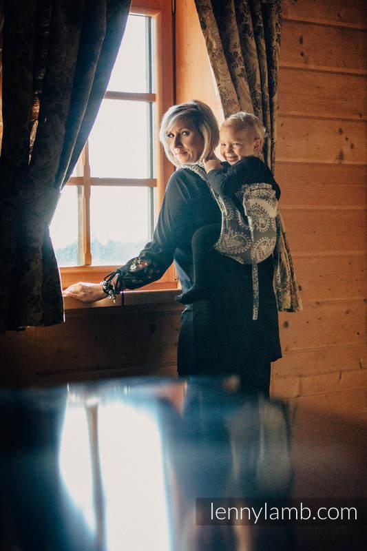 Lenny Buckle Onbuhimo Tragehilfe, Größe Standard, Jacquardwebung (100% Baumwolle) - FOLK HEARTS #babywearing