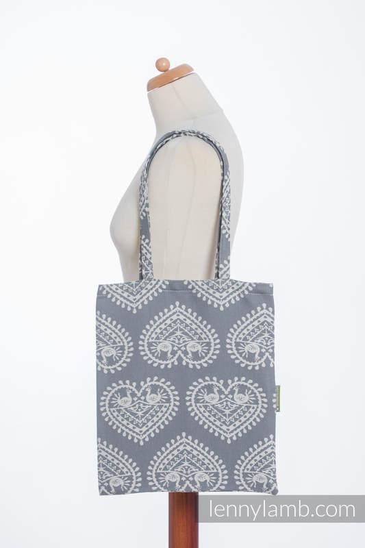 Einkaufstasche, hergestellt aus gewebtem Stoff (100% Baumwolle) - FOLK HEARTS #babywearing