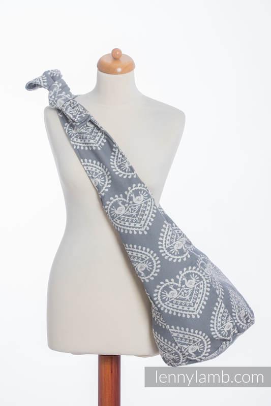 Torba Hobo z materiału chustowego, (100% bawełna) - FOLKOWE SERCA #babywearing