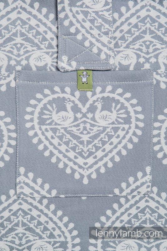 Schultertasche, hergestellt vom gewebten Stoff (100% Baumwolle) - FOLK HEARTS #babywearing