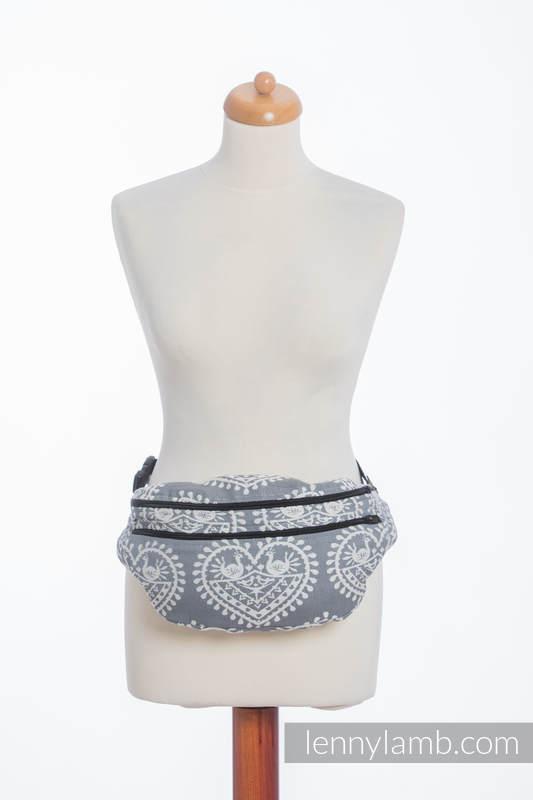 Riñonera hecha de tejido de fular, talla grande (100% algodón) - FOLK HEARTS #babywearing