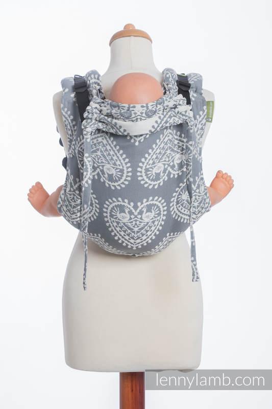 Nosidło Klamrowe ONBUHIMO z tkaniny żakardowej (100% bawełna), rozmiar Standard - FOLKOWE SERCA #babywearing