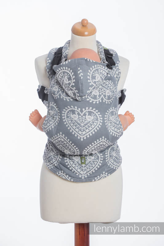 Ergonomische Tragehilfe, Größe Toddler, Jacquardwebung, 100% Baumwolle - FOLK HEARTS - Zweite Generation #babywearing