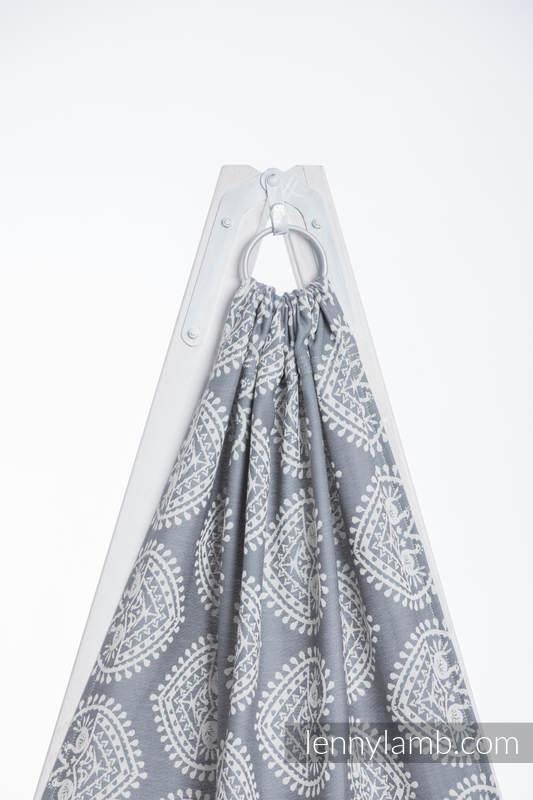 Ringsling, Jacquard Weave (100% cotton) - with gathered shoulder - FOLK HEARTS - long 2.1m #babywearing