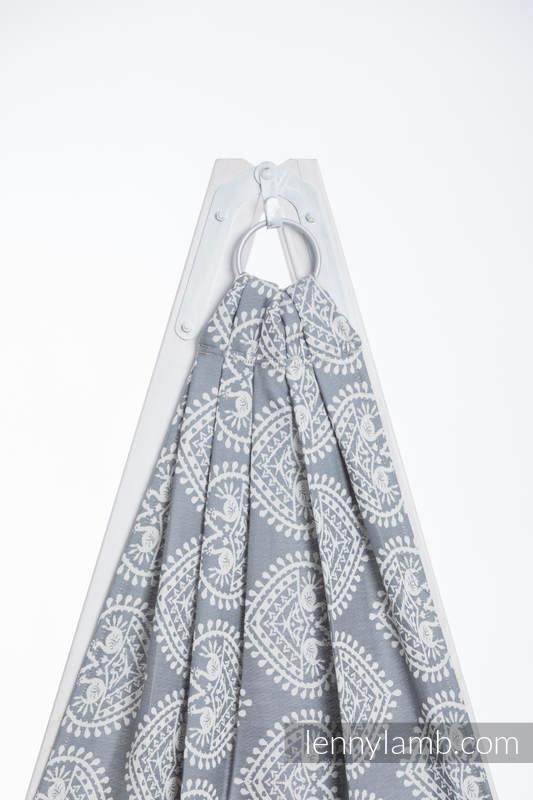 Żakardowa chusta kółkowa do noszenia dzieci, bawełna - FOLKOWE SERCA  - long 2.1m (drugi gatunek) #babywearing