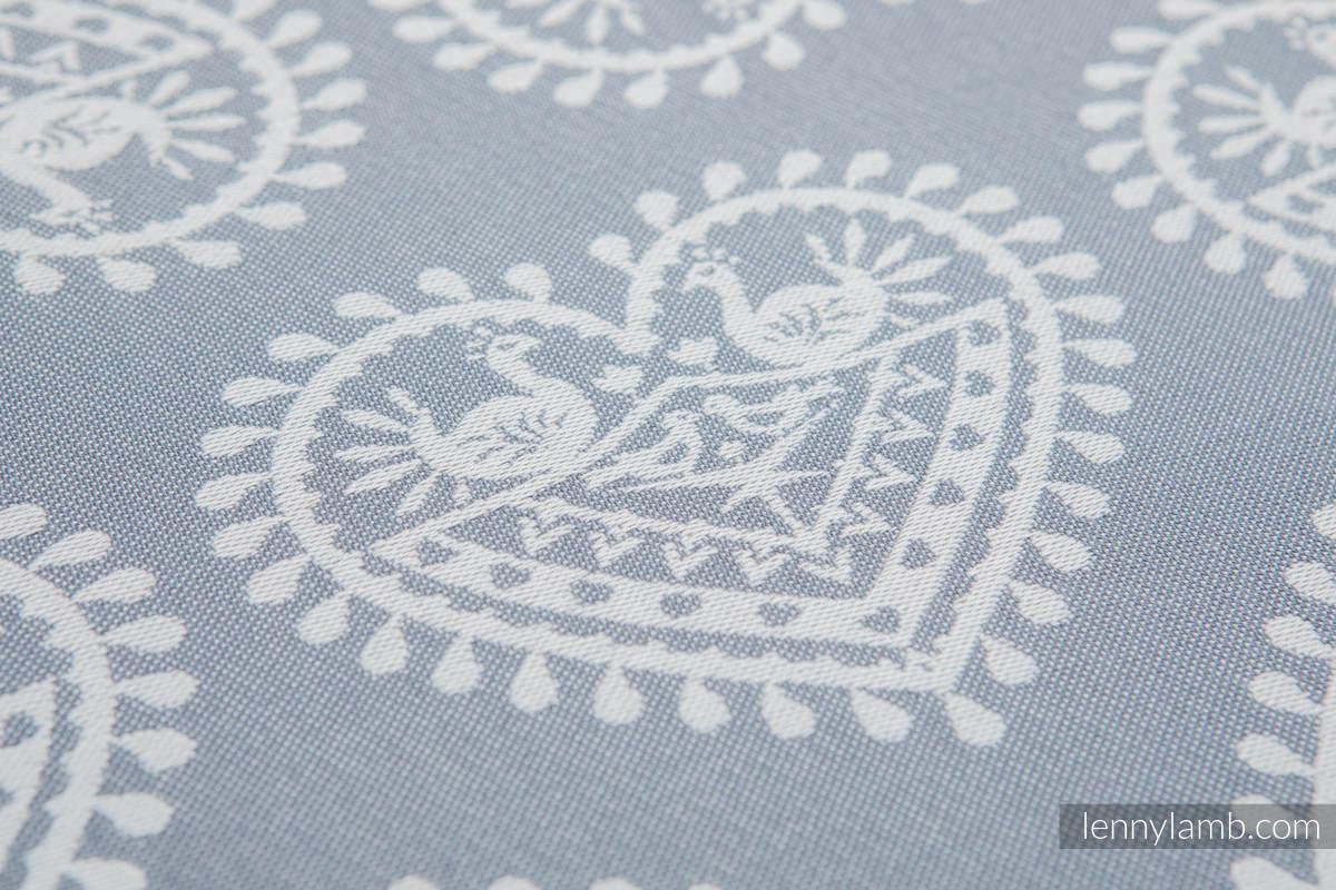 Żakardowa chusta do noszenia dzieci, bawełna - FOLKOWE SERCA - rozmiar L (drugi gatunek) #babywearing