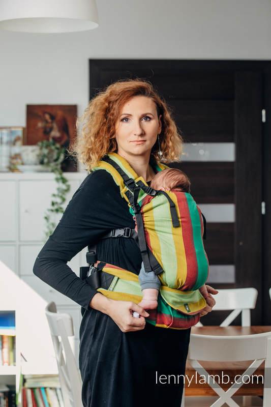 Mochila LennyUp, talla estándar, sarga cruzada 100% algodón - conversión de fular INDIAN SUMMER #babywearing