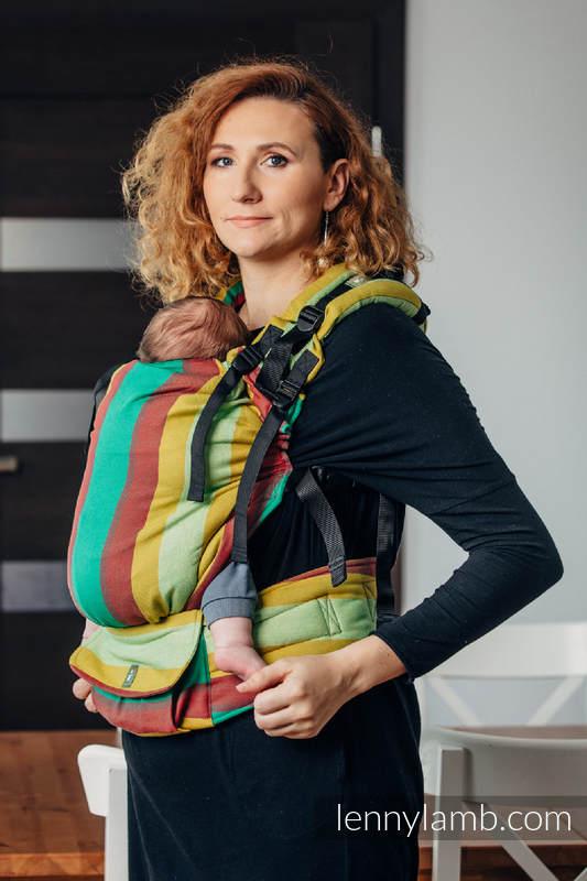 LennyUp Carrier, Standard Size, broken-twill weave 100% cotton - INDIAN SUMMER #babywearing