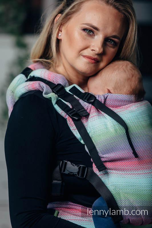 LennyUp Carrier, Standard Size, herringbone weave 100% cotton - wrap conversion from LITTLE HERRINGBONE IMPRESSION #babywearing