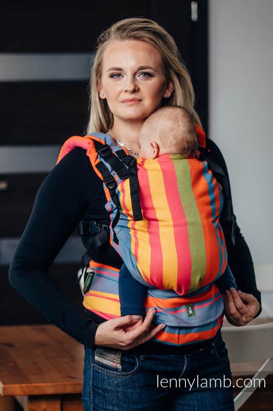 LennyUp Carrier, Standard Size, broken-twill weave 100% cotton - ZUMBA ORANGE #babywearing